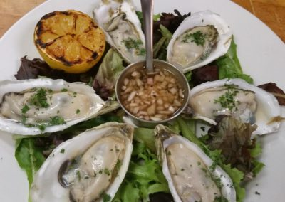 Grilled Devils Shoals Oysters